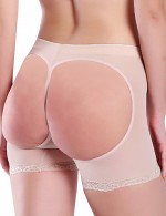 Flexible Nude Mesh Open Butt Lifters With Lace Slim