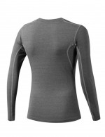 Supper Fashion Gray Solid Color Training Shirts Round Neck Natural Outfit