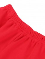 Appealing Red Thermal Underwear Plain Queen Size Thickening Stunning Style