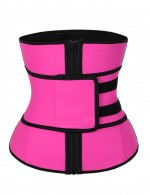 Spotlight Rose Red Queen Size Latex Waist Belt Sticker With Zip Slim
