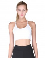 National White Push Up Athletic Bra Stitching Mesh Breath