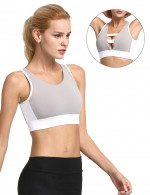 Wonderful Grey Double Wearable Sports Bra Removable Pads Activewear
