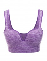 Creative Purple Activewear Bra Wide Elastic Strap Fashion Forward