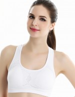 Young Girl White Non-slip Sports Bra Removable Padding For Work