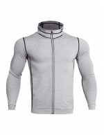 Unique Light Grey Men's Reflective Fast Dry Exercise Top Plus Size Wholesale