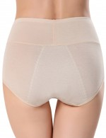Tempt And Tease Beige Solid Color 3 Layers Panty Bamboo Fiber Comfortable