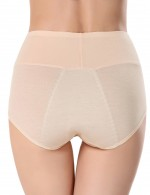 Inexpensive Nude Leakproof Menstrual Panties High Waist Allover Sleek