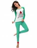 Comely Green Large Size 2 Pieces Christmas Loungewear Ladies