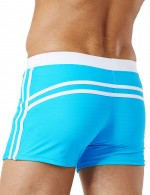 Extraordinary Sky Blue Knotted Men Swimming Briefs Drawstring
