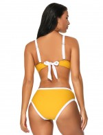Pool Party Yellowish Brown Two Pieces Adjustable Straps Swimwear Sexy Ladies