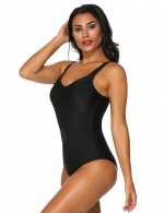 Ingenious Black Mesh Swimwear V Neck Patchwork Women Swimwear Online