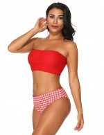 Vintage Red Halter Neck Two Pieces Swimwear Multi-ways Sunshine Stunner