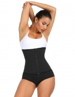 Dreamlike Black 4 Steel Boned Big Size Waist Shaper Hooks Zip