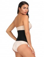 High-Compression Black Large Size Waist Slimmer Hook Closure Curve Slimmer