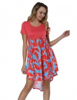 Flowy Print Dress Short Sleeve Heartbreaker