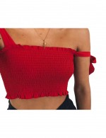 Paradise Allover Crop Textured Top No Sleeve Best Materials