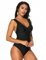 Skimpy Black Red Backless One Piece Beachwear High Cut High Quality