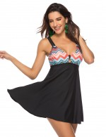 Sleek Black Hollow Out Plus Size Beach Dress Detachable Pads Summer Vacation