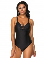 Mystic Black Adjustable Straps One Piece Swimsuit Strappy Super Trendy