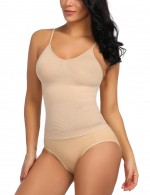 Super Sexy Nude Anti-Curling Two Pieces Shaping Sets V-Neck Instantly Slims