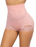 Supper Fashion Light Pink Anti-Curling Butt Lifter Panty High Waist Posture Correct