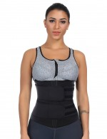 Comfort Revolution Big Size Black Neoprene Waist Trainer With Sticker
