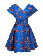 Striking Convertible Printed Mini Dress Knot Latest Fashion