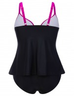 Flirtatious Adjustable Straps 2 Pieces Tankini Big Size All-Match Style