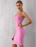 Luscious Curvy Pink Zip Closure Bodycon Dress Above Knee Outfits