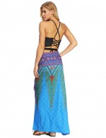 Hot Summer Printed Cover Up Skirt Maxi Length Online Shopping