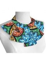 Gorgeous Cotton Bid Collar Necklace Ethnic Print Confidence