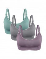 High Quality Wireless Motherhood Hooks Breastfeeding Bras 3 Pcs