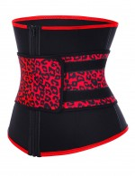 7 Steel Boned Neoprene Leopard Big Size Waist Cincher Superfit