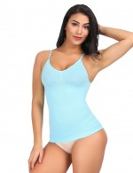 Slimming Stomach Light Blue Tummy Control Underwear Vest