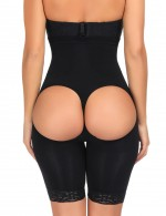 Black High Waist Tight Trimmer Butt Lift Effect Shaper Sexy Gridle Panties