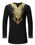 Simply Hot Stamping Crew Collar Male T-Shirt Tribal Print Delightful Garment
