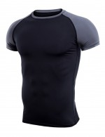 Soft Short Sleeve Color Block Male Sport Top Big Size