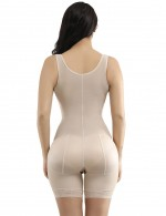 Nude Hook Open Crotch Underbust Full Body Shapewear Big Size