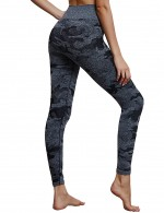 Black Camouflage Seamless High Waist Yoga Legging Feminine Curve