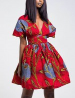 Explicitly Chosen African Batik Print Multi-Way Skater Dress For Women