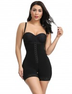 Slimmed Magic Black Hook Front Plus Size High Waist Body Shaper