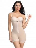 Nude Plus Size Full Body Shaper Booty Lift Smooth Abdomen