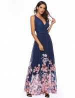 Fabulous Criss Cross Chiffon Wrap Maxi Dress Knot Fabulous Fit