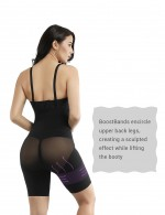Hourglass Crotchless Booty Lifting Cross Body Shaper Queen Size Potential Reduction