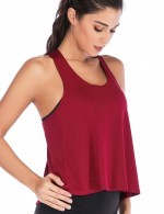 Well-Suited Wine Red Cut Out Slit Sport Tank Top All Over Smooth