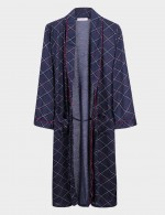 Ravishing Big Size Turn Down Neck Belted Nightgown For Men