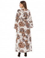 Lovely White Flower Keyhole Backline Large Size Dress Eye Catcher