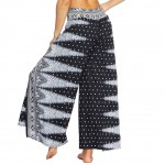Funky Dot Printing High Slit Wide Legs Pants Quality Assured