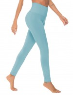 Ultra Sexy Light Blue Fitted Full Length Mid-Rise Yoga Leggings