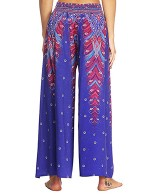 Extraordinary African Painted High Slit Pants High Waist Leisure